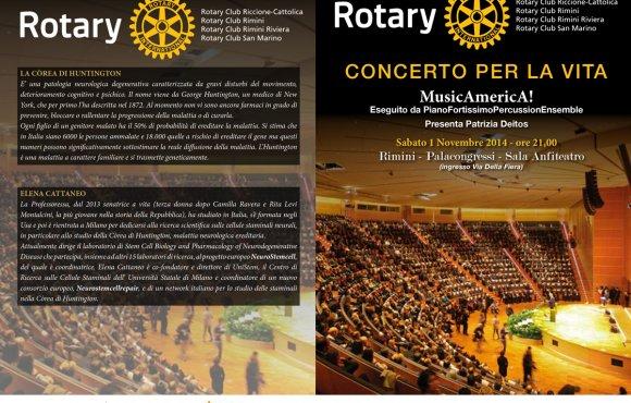Rotary Distretto 2072 Zona Romagna Sud – Concerto per la Vita